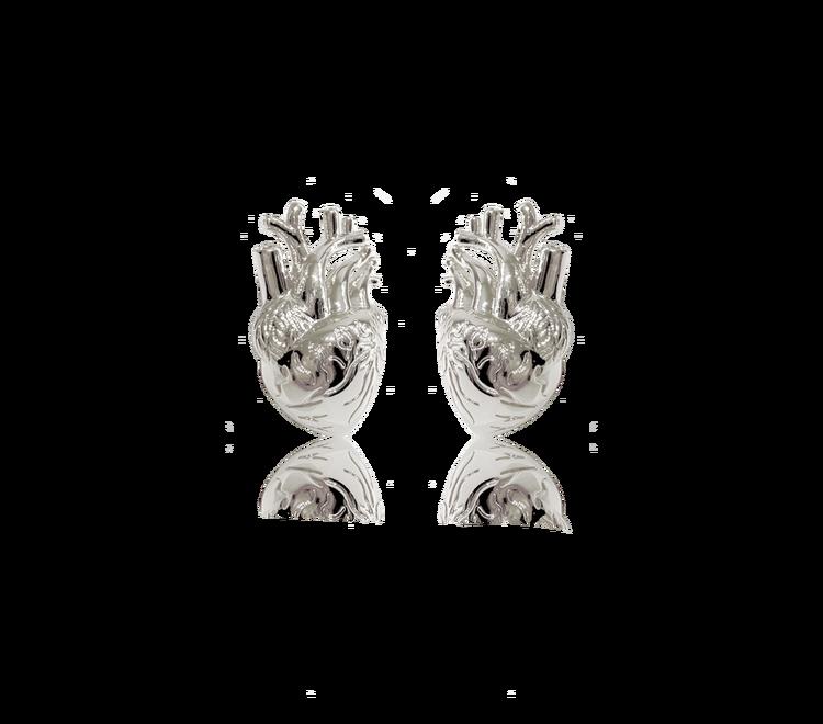 Heart Örhängen Guld eller Silver