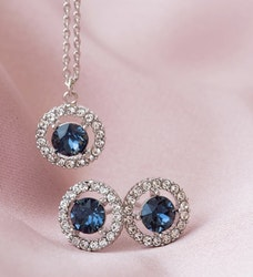 Miss Miranda Halsband Silver blue