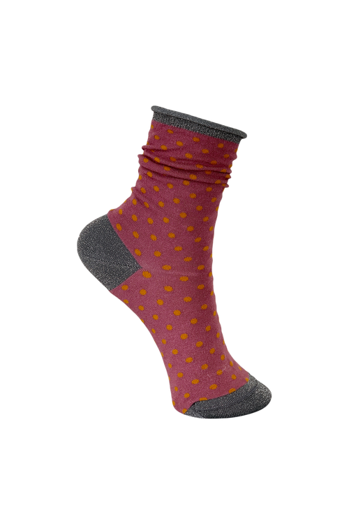 Socks Dots Dark rose