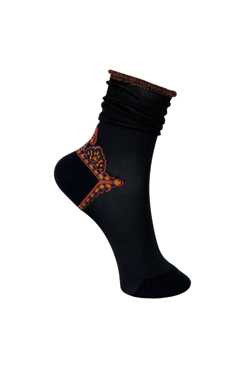Socks Rokoko Black/Rust