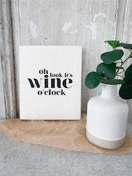 Disktrasa Wine o clock  Vit/Svart