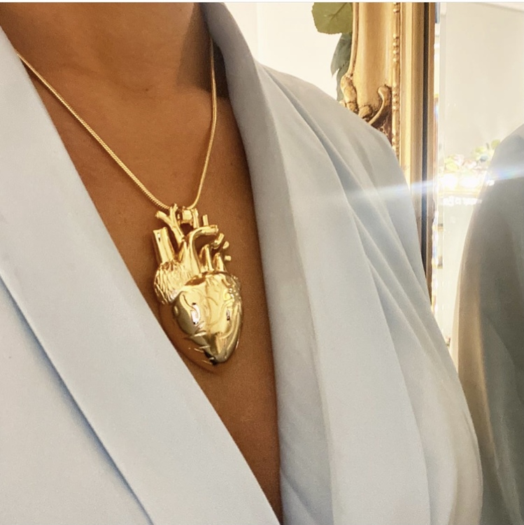 Heart Mini Halsband Silver eller Guld
