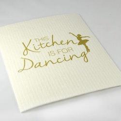 Disktrasa Kitchen dancing Vit/Guld