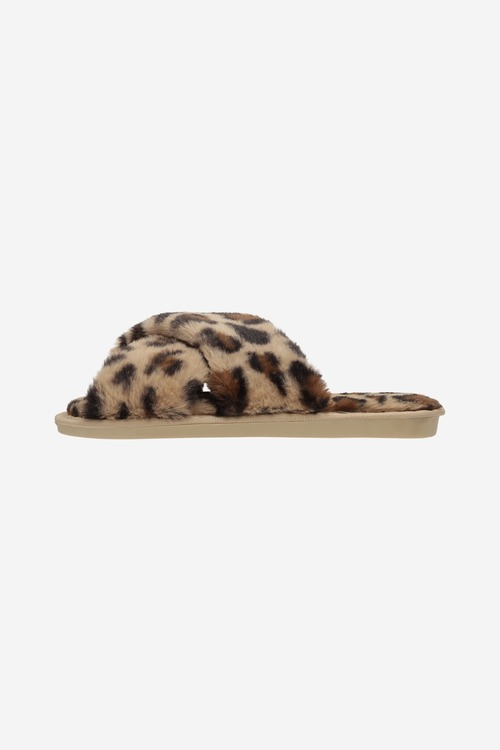 Lou Faux fur slippers Light Pink, Taupe eller Leo