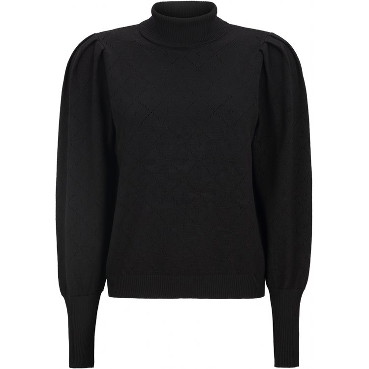 Lisa Rollneck Knit Svart