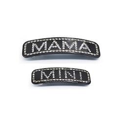 Hair clip Mama+Mini Svart