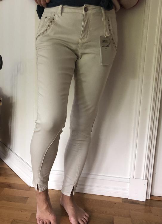Holly Twill Jeans Sand/Vit