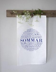 Kökshandduk Sommar Vit/Blå