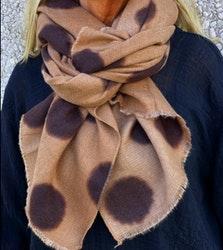 Scarves Taupe Dots
