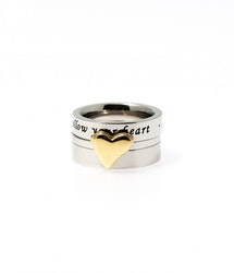 Triple Heart Ring, guld
