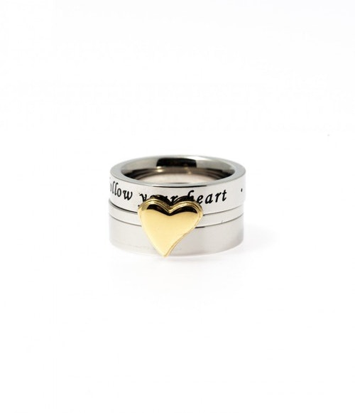 Triple Heart Ring, guld