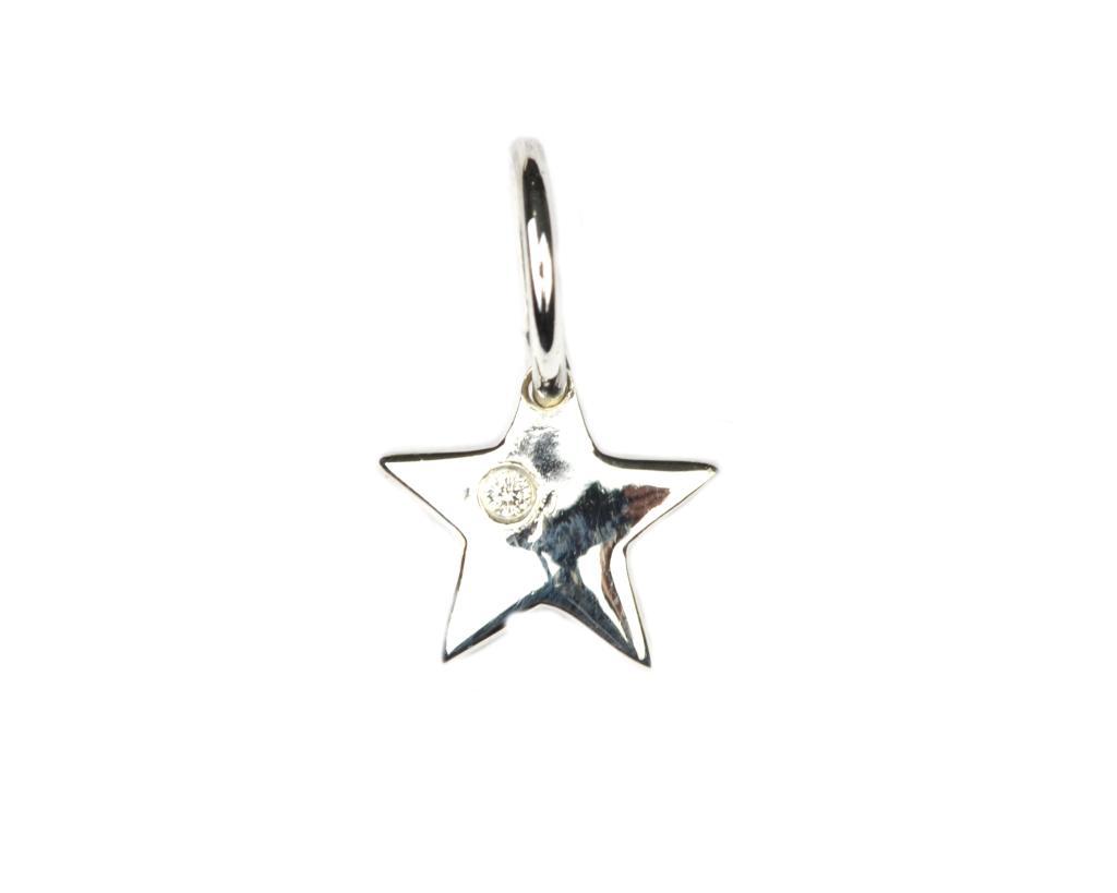 Berlock Stjärna  Silver