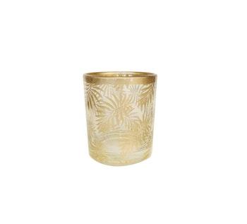 Ljuslykta  Palm Liten Guld