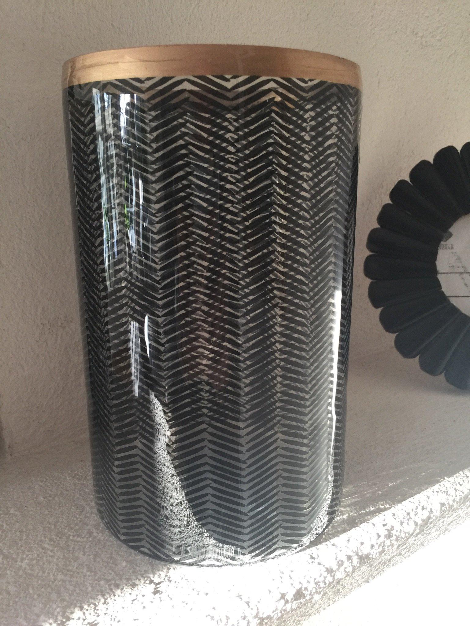 Fishbone Vas/Lykta  Black