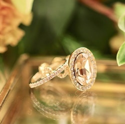 Kennedy Ring Crystal Guld