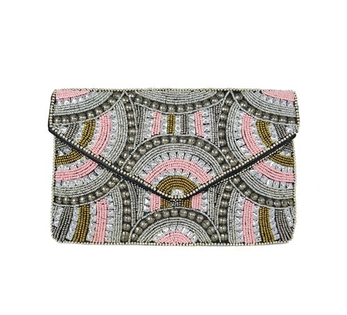 Swirly  Clutch. Pink