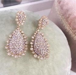 Macy Örhängen Crystal Gold