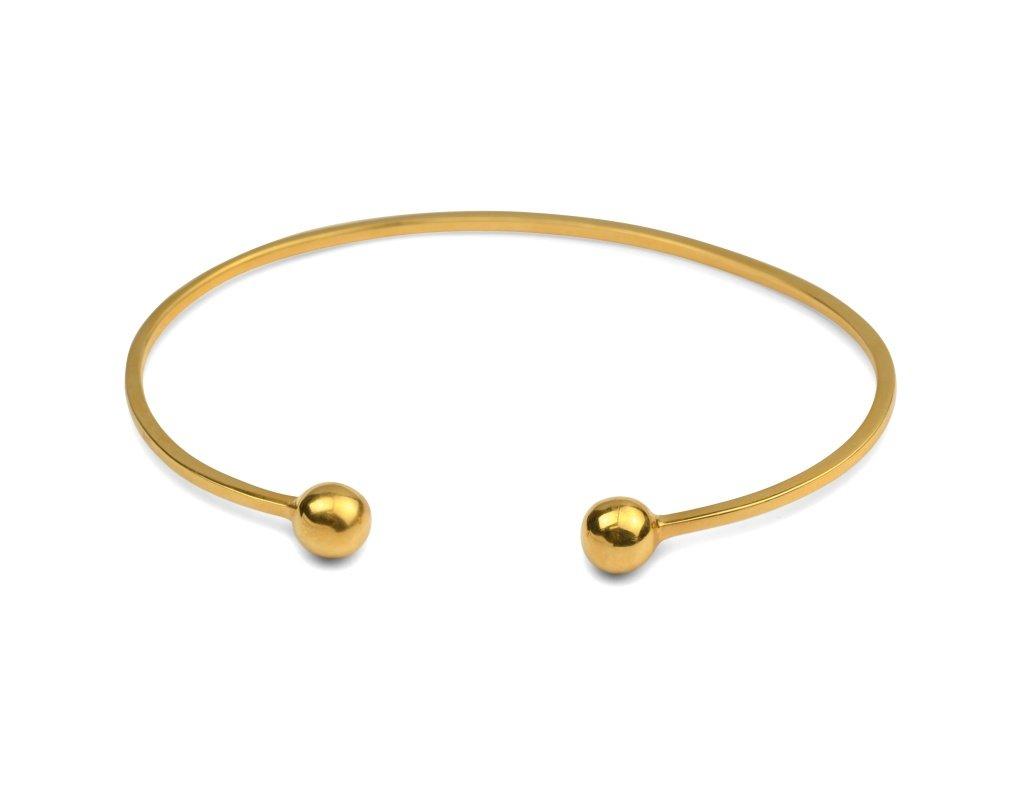 Strict Plain Armband Guld
