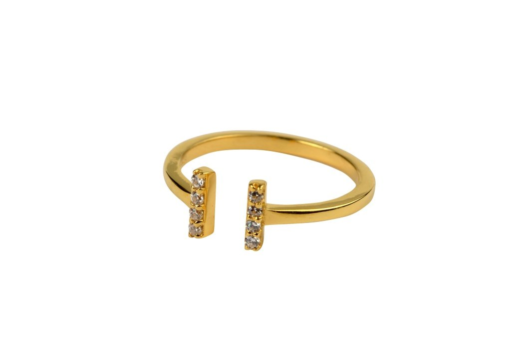 Strict Sparkle Ring Guld eller Silver
