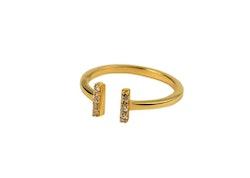 Strict Sparkle Ring Guld eller Silver