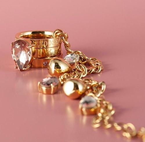 Blaze Ring Clear/Guld