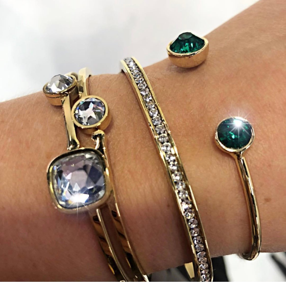 Moon Armband Emerald, Champagne,  Fuchsia eller Svart