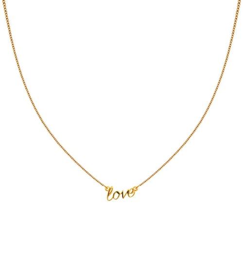 Love Halsband Guld