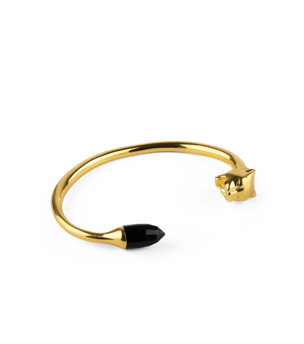 Panthera Bangle Guld/Svart