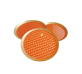 Glasunderlägg Orange 6-pack