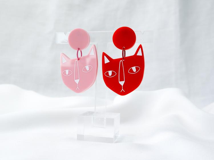 KATT (rosa/röd)
