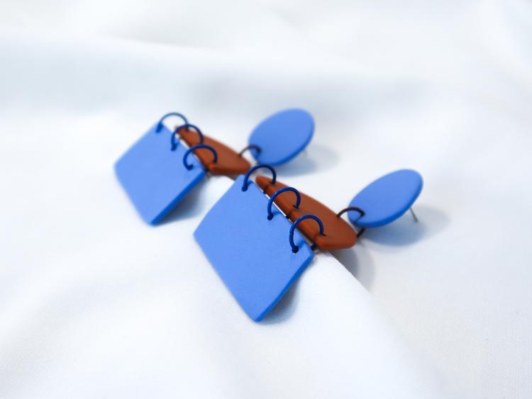 TRIPPEL (blå/kanel)