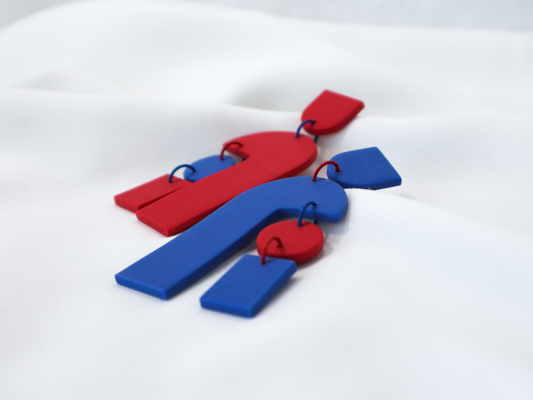 GEOMETRI (blå/röd)