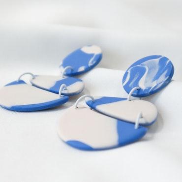 STOJA (blå/vit)