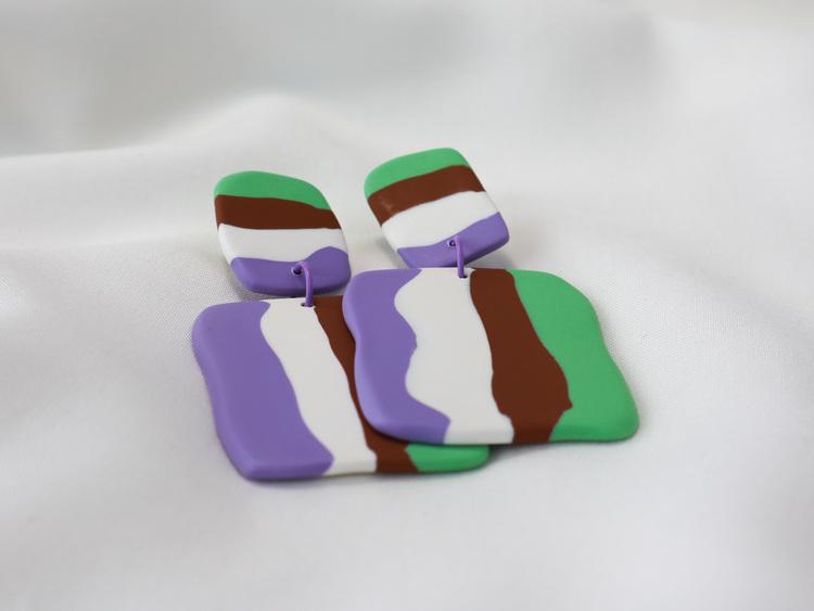 STRIMMA (lila/vit/brun/grön)