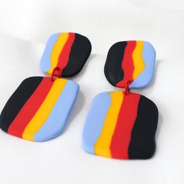 STRIMMA (svart/röd/gul/blå)