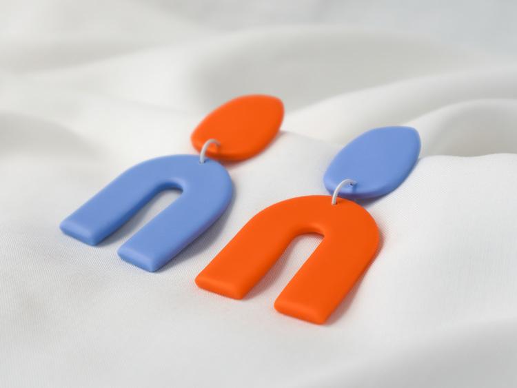 KLARA (orange/blå)