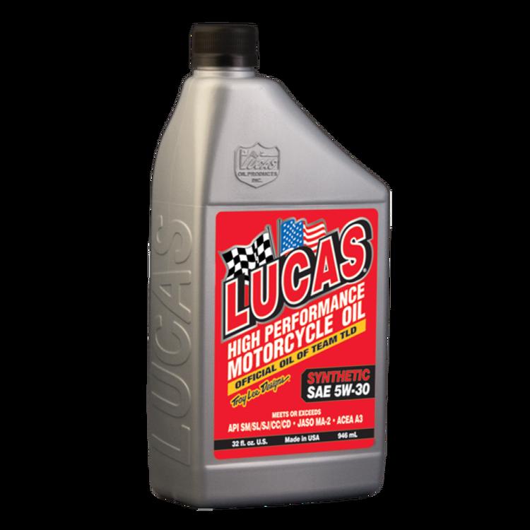 LUCAS OIL, 4-takts HELSYNTETISK MOTORCYKELOLJA 946ML