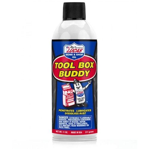 ToolBox Buddy driver ut fukt och smörjer effektivt