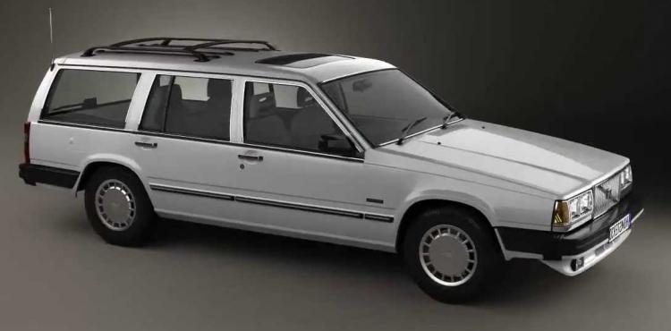 Solfilm til Volvo 765. Færdigskåret solfilm til alle Volvo biler.