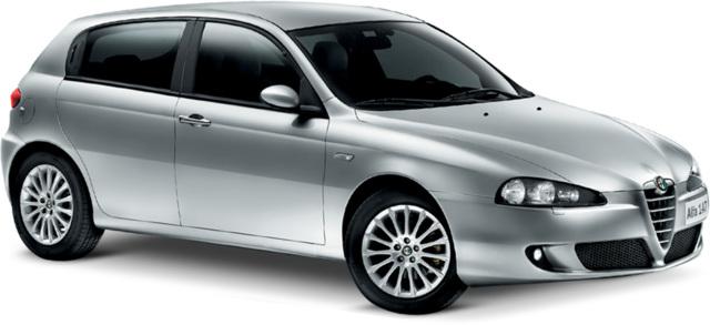 Solfilm til Alfa Romeo 147 3-dørs. Færdigskåret solfilm til alle Alfa Romeo biler.