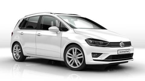 Solfilm til Volkswagen Golf Sportsvan. Færdigskåret solfilm til alle Volkswagen biler.