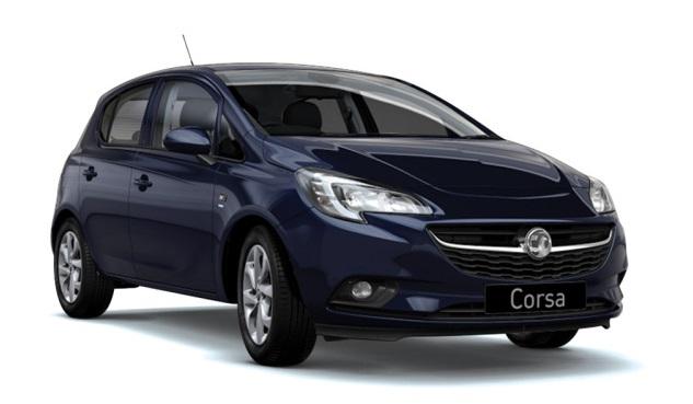 Solfilm til Opel Corsa 5-døre . Færdigskåret solfilm til alle Opel biler.