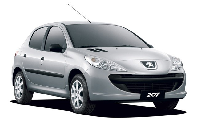 Solfilm til Peugeot 207 5-d. Færdigskåret solfilm til alle Peugeot biler.