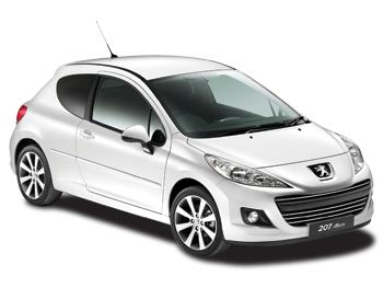 Solfilm til Peugeot 207 3-d. Færdigskåret solfilm til alle Peugeot biler.