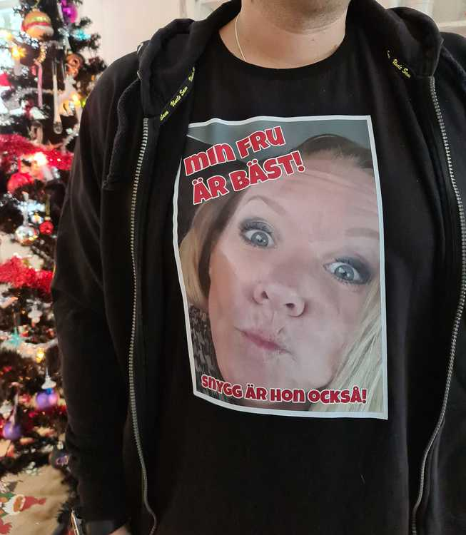 T-shirt med eget foto (dam)
