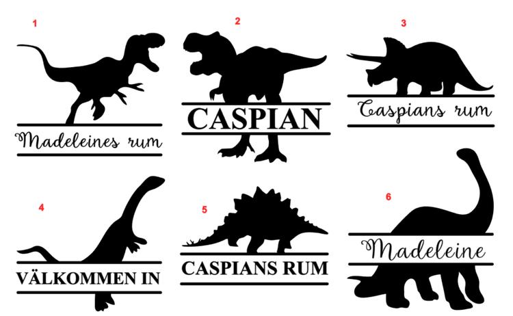 Namn Dinosaurie