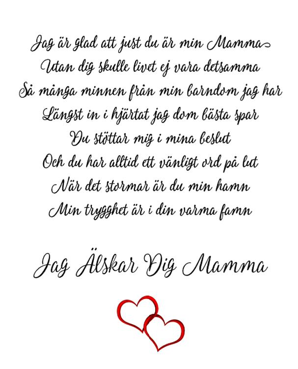 vers till mamma