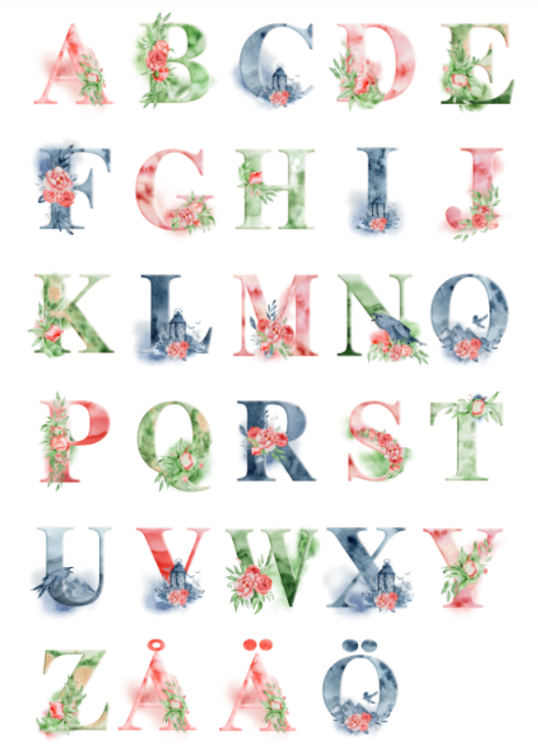 Sagolik alfabet-poster