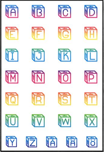 Alfabet klossar