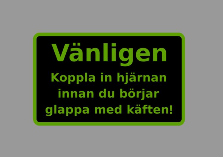svart/grön